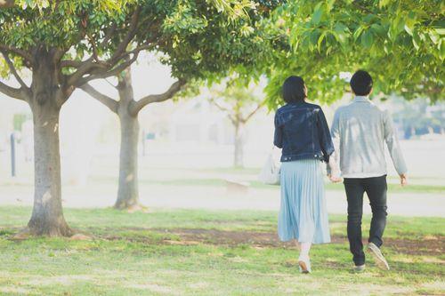 夫婦仲良く散歩